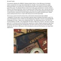 Essay: Atlanta Falcons Pennant